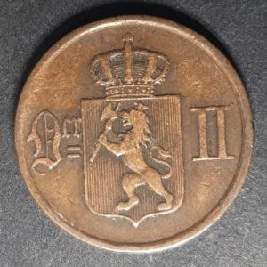 1878 Norway One Ore