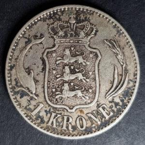 1892 Denmark Silver 1 Krone