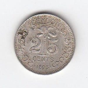1895 Ceylon 25 Cents