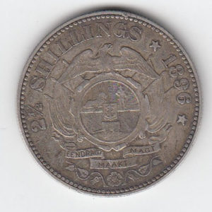 1896 South Africa Silver 21/2 Shillings