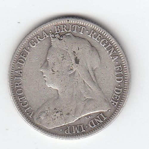 Obverse 1901 Cyprus Four and a Half Piastres