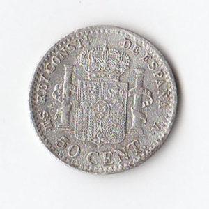 1904 Spain 50 Cents