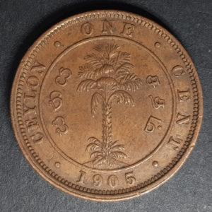 1905 Ceylon One Cent