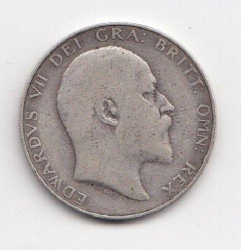 1906 King Edward VII Silver Half Crown
