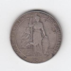 1907 King Edward VII Silver Florin
