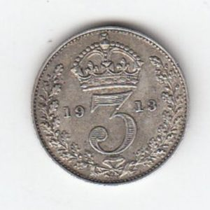 1913 King George V Silver Threepence