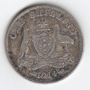 1914 Australia Silver Shilling