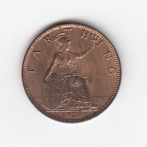 1928 King George Farthing