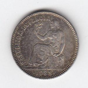 1933 Spain Silver One Peseta