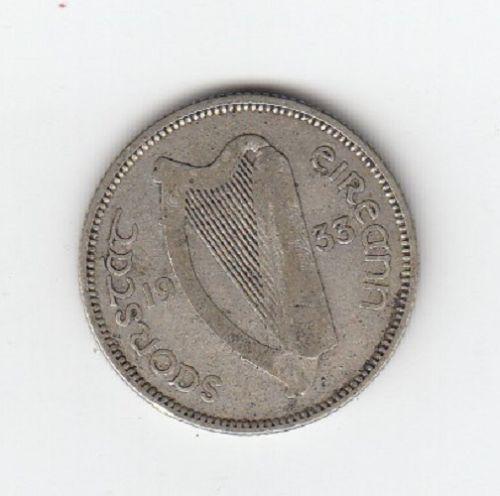 Obverse 1933 Ireland Shilling