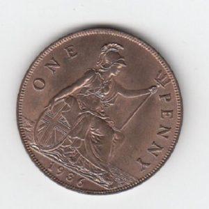 1936 King George V Penny