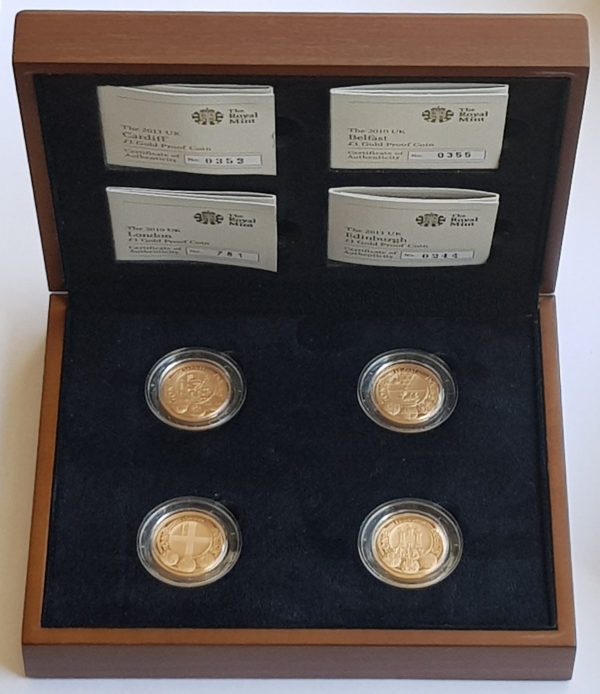 UK Cities Gold Proof One Pound Set