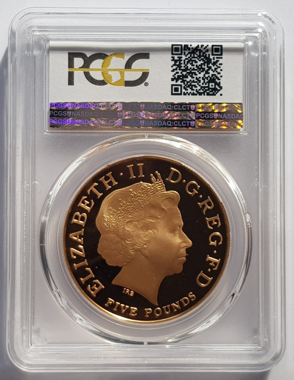 2013 Prince George Christening Gold Proof Five Pounds