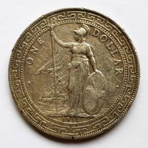 1911 Hong Kong Silver Trade Dollar