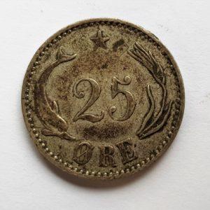1900 Silver 25 Ore