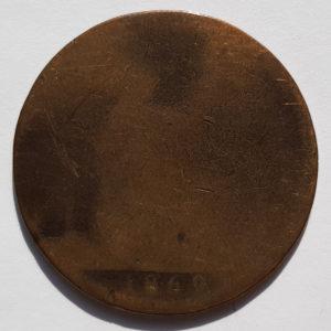 1869 Queen Victoria Half-Penny