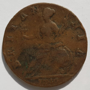 1746 King George II Half-Penny