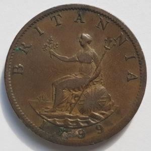 1799 King George III Half-Penny
