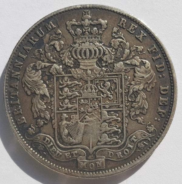 1826 King George IV Silver Half Crown