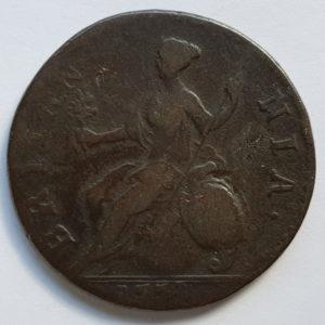 1771 King George III Half-Penny