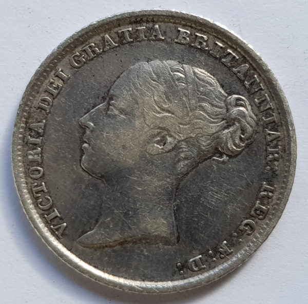 Obverse 1839 Queen Victoria Silver Sixpence