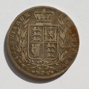 1842 Queen Victoria Silver Half Crown