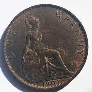 1901 Queen Victoria Half-Penny