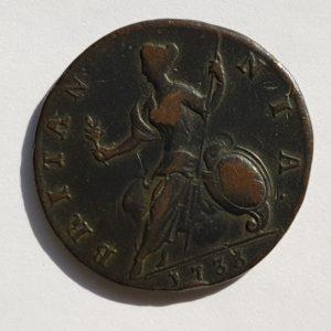 1733 King George Half-Penny