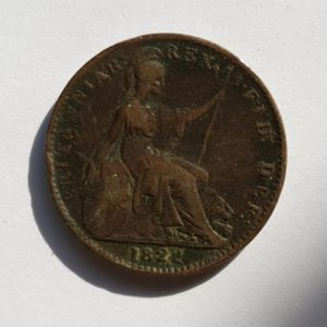 1822 King George IV Farthing