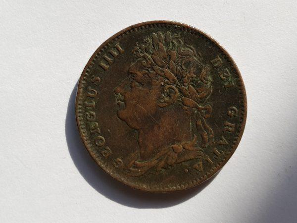 Obverse 1822 King George IV Farthing