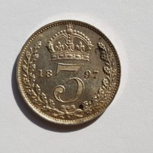 1897 Queen Victoria Silver Maundy 3d