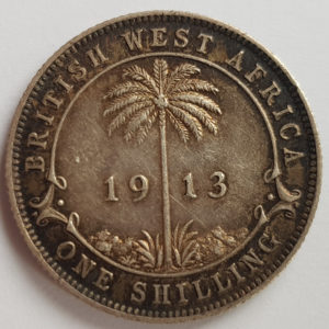 1913 British West Africa Silver One Shilling