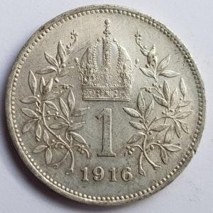 1916 Austria-Hungary Silver Krone