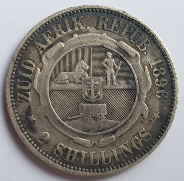 1896 South Africa Silver Two Shillings