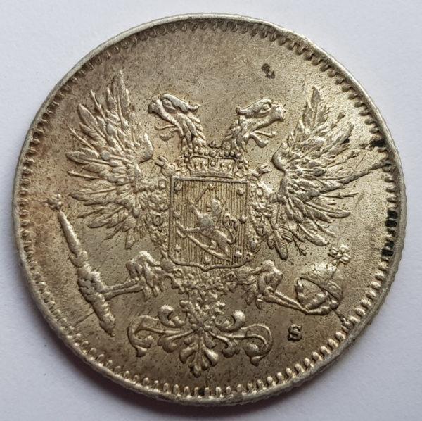 1917 Finland Silver 50 Pennia
