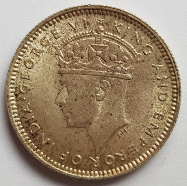 obverse 1941 Malaya Silver 10 Cents
