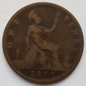 1879 Queen Victoria Penny