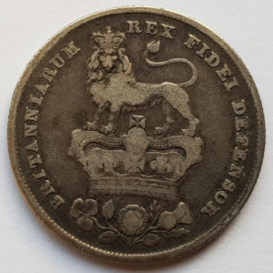 1826 King George IV Silver Shilling