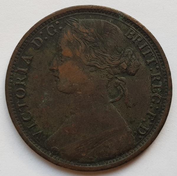 1866 Queen Victoria Penny