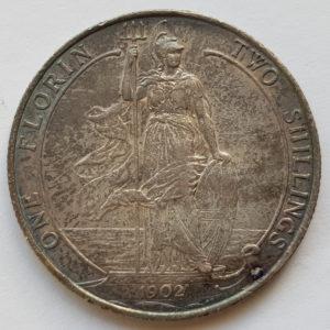 1902 King Edward VII Silver Florin