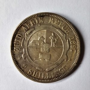 1897 South Africa Silver Two Shillings
