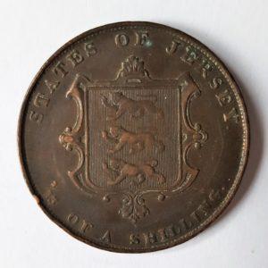 1861 Jersey 1/3 Shilling