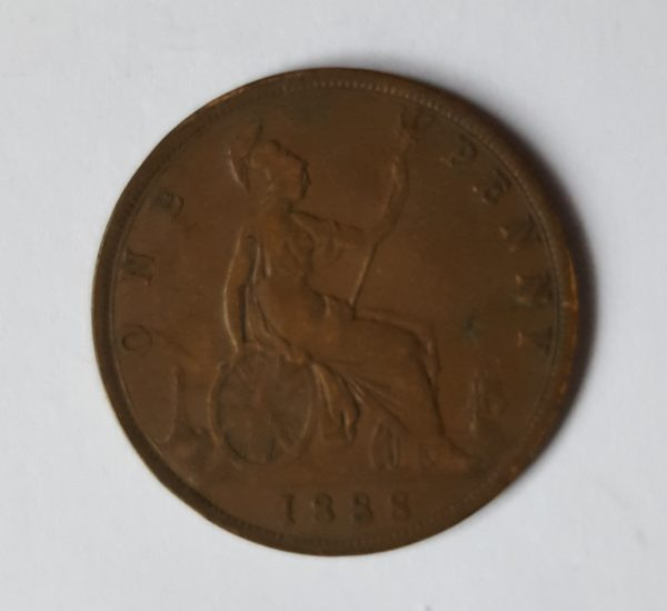 1888 Queen Victoria Penny