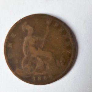 1889 Queen Victoria Penny