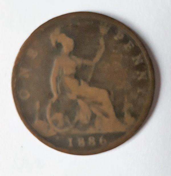1886 Queen Victoria Penny