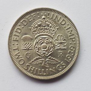 1939 King George IV Florin