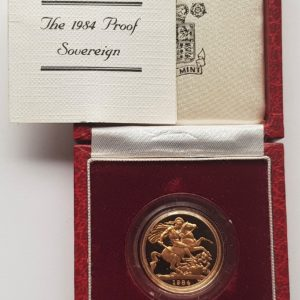 1984 Gold Proof Sovereign