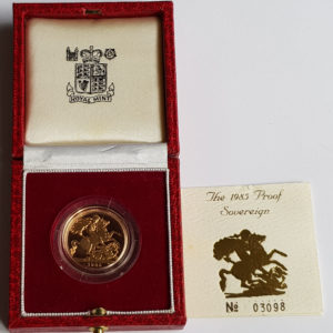 1985 Gold Proof Sovereign