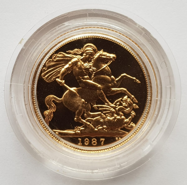 1987 Gold Proof Sovereign 1