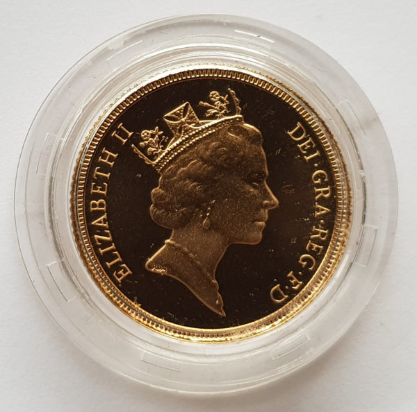 1987 Gold Proof Sovereign 2